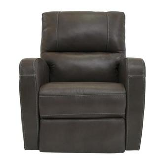 Keegan Gray Power Motion Leather Recliner