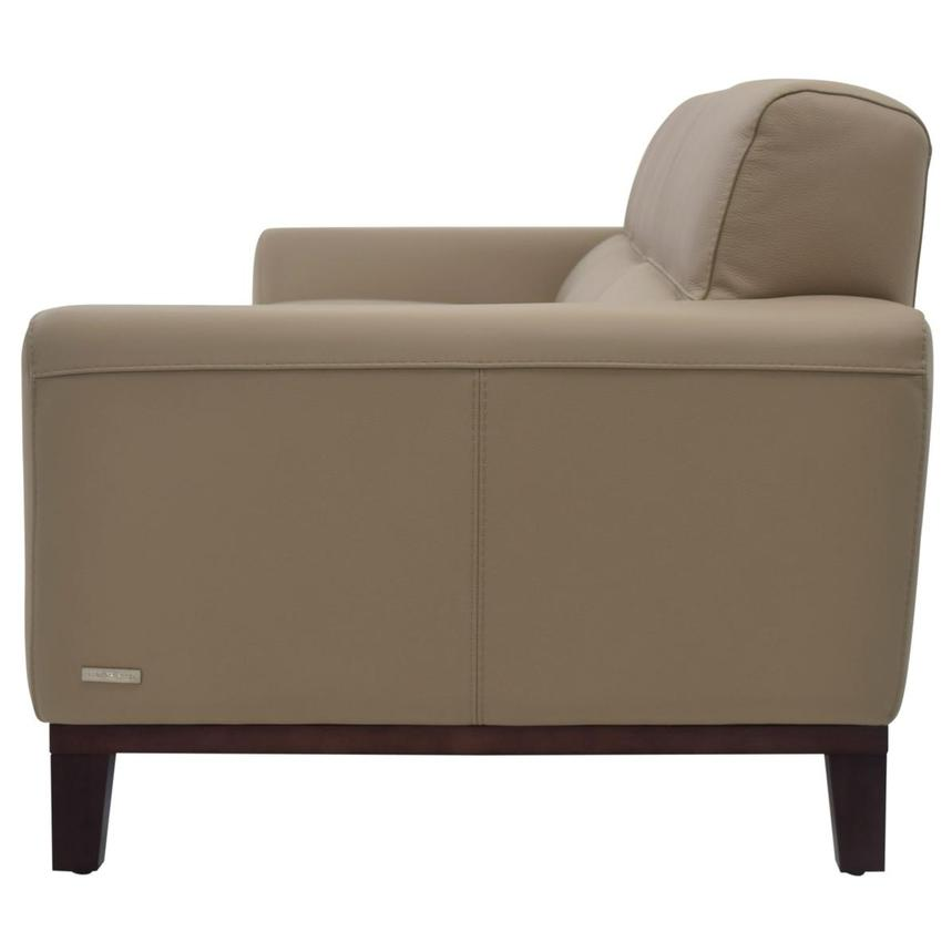 Milani Tan Leather Sofa  alternate image, 3 of 6 images.