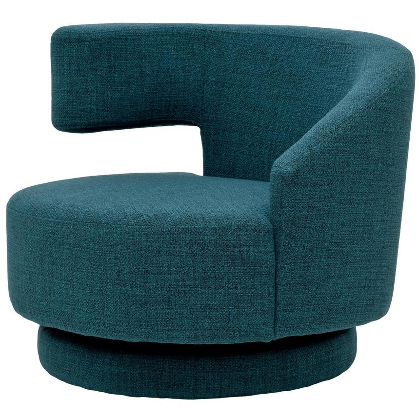 Okru Blue Swivel Chair w/2 Pillows  alternate image, 3 of 10 images.