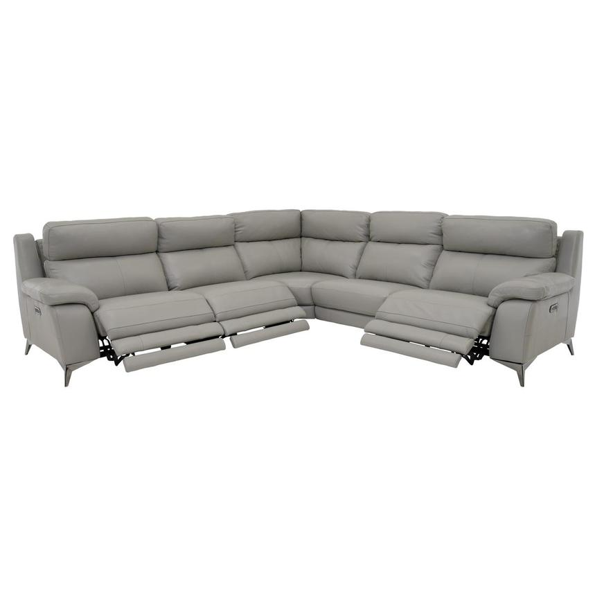 Barry Gray Power Motion Leather Sofa w/Right & Left Recliners  alternate image, 2 of 9 images.