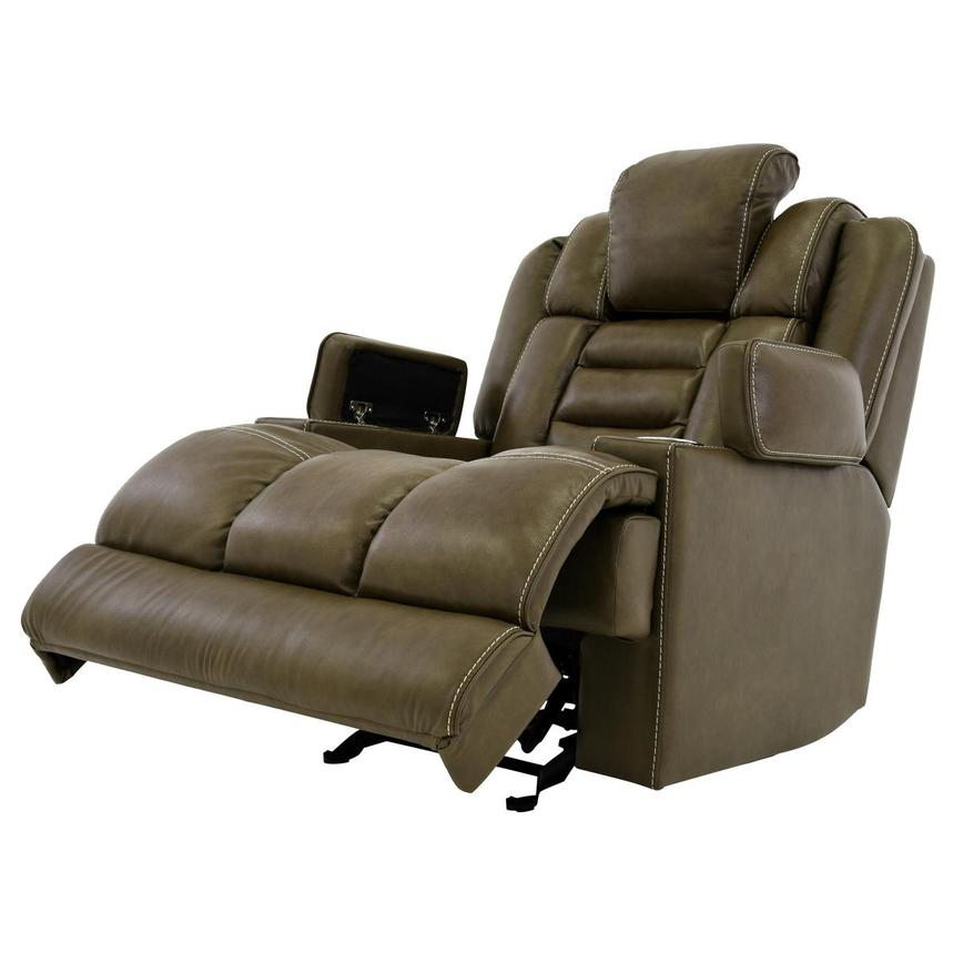 Damon Brown Power Motion Leather Recliner  alternate image, 3 of 10 images.