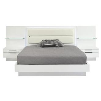 Ally Queen Platform Bed w/Nightstands