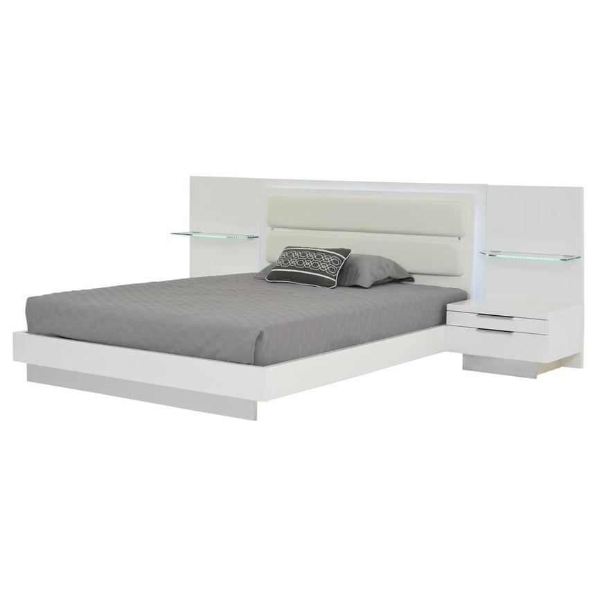 Ally Queen Platform Bed w/Nightstands  alternate image, 2 of 16 images.