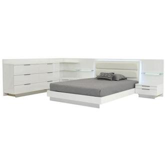 Ally Queen Bed w/2 nightstands, dresser, & corner unit
