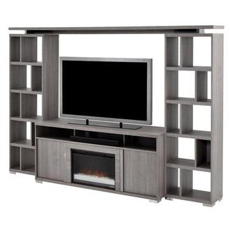 Tivo Wall Unit w/Speaker & Faux Fireplace Made in Italy