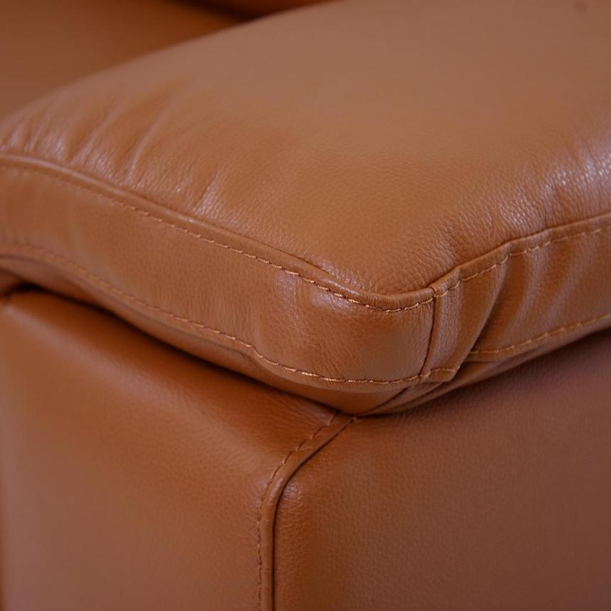 Charlie Tan Power Motion Leather Sofa w/Right & Left Recliners  alternate image, 7 of 9 images.