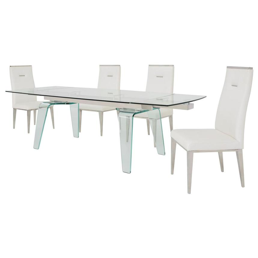 Boston/Hyde White 5-Piece Formal Dining Set  alternate image, 2 of 15 images.