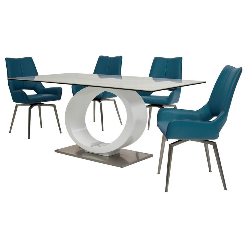 Fenti/Kalia Blue 5-Piece Formal Dining Set  alternate image, 2 of 15 images.