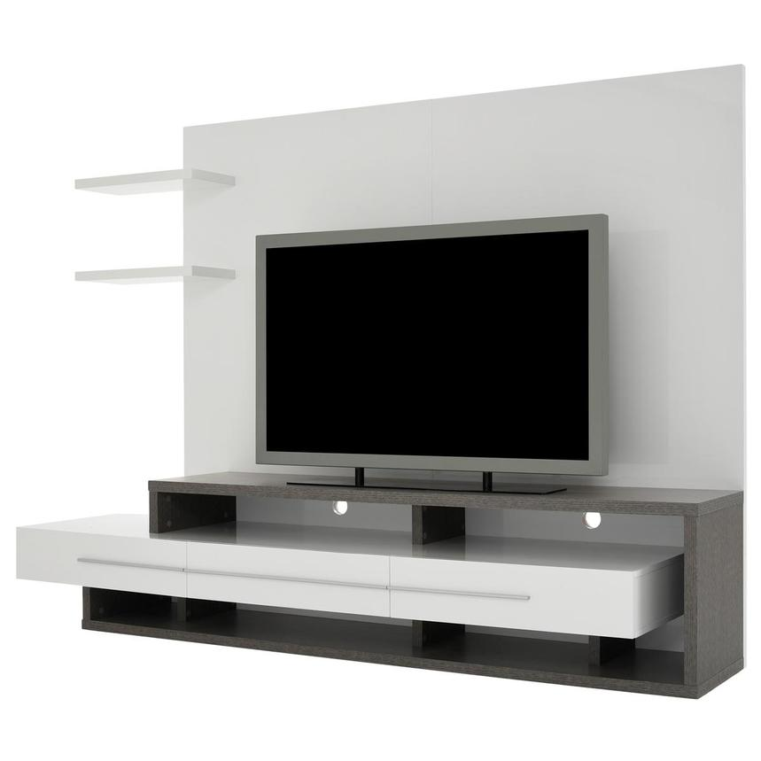 Avanti Gray/White Wall Unit  alternate image, 2 of 7 images.