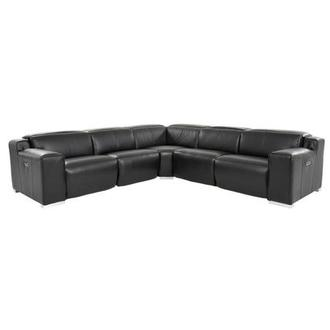 Jeremy Power Motion Leather Sofa w/Right & Left Recliners