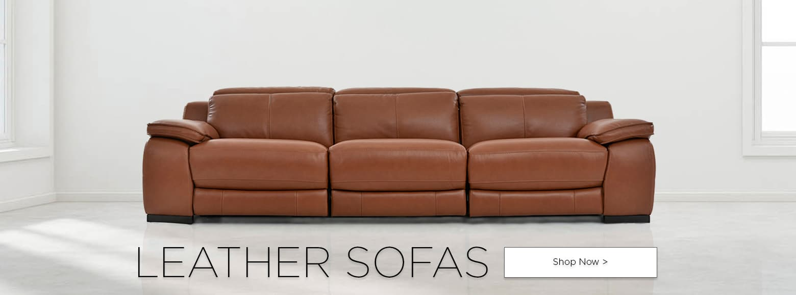 Leather sofas. Shop now.
