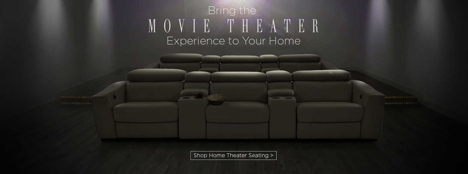 Brig the movie theater experience to your home. Shop home theater seating.