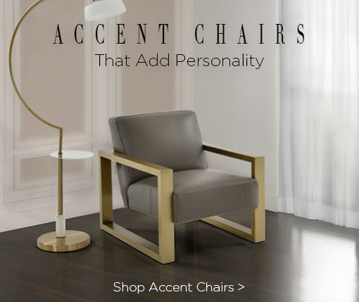 Accent Chairs that add personality. Shop accent chairs.