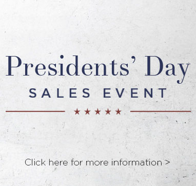 Presidents day sales event. Click here for more information.