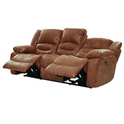 Wrangler Tan Recliner Sofa  alternate image, 3 of 5 images.