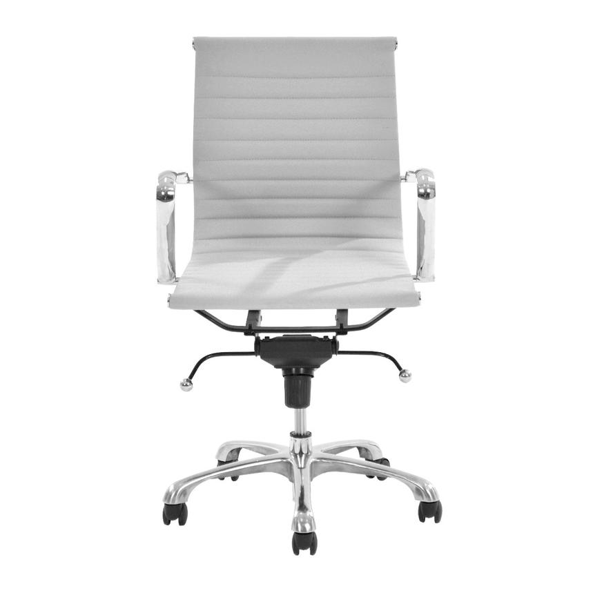 Watson White Low Back Desk Chair  alternate image, 3 of 7 images.