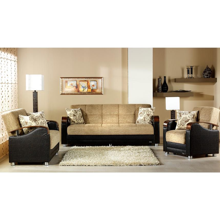 Peron Tan Futon Sofa El Dorado Furniture