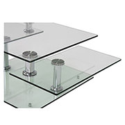 Square Clear Silver Motion Coffee Table  alternate image, 5 of 8 images.