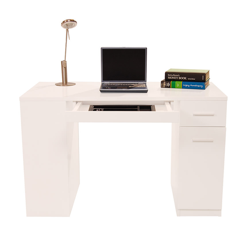 Bellmar White Desk  alternate image, 3 of 8 images.