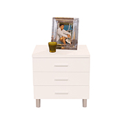 Bellmar White Nightstand  alternate image, 2 of 5 images.