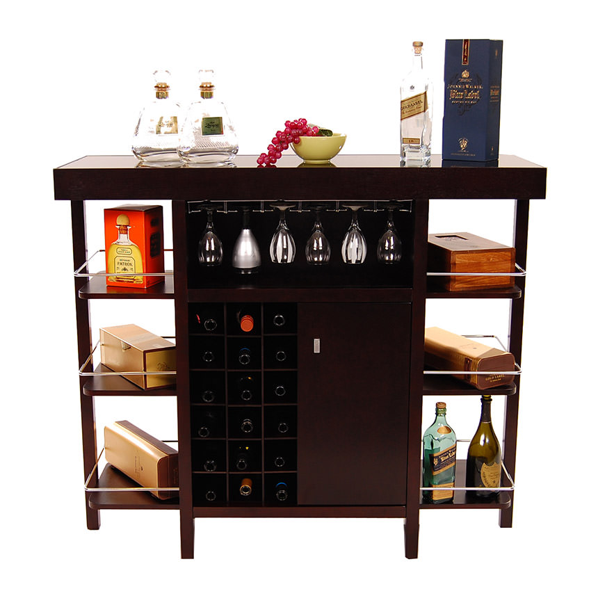 Philmore Dark Oak Bar El Dorado Furniture