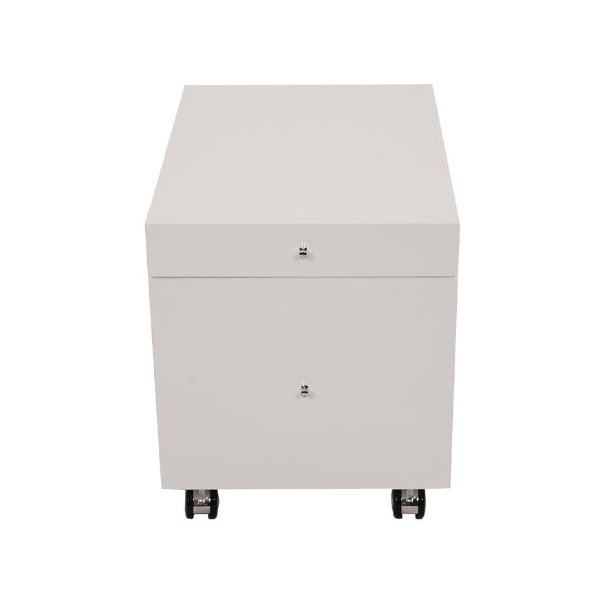 Vitra White Rolling File Cabinet  alternate image, 3 of 6 images.