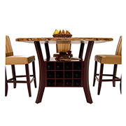 Meredith Tan 5-Piece High Dining Set  alternate image, 3 of 9 images.