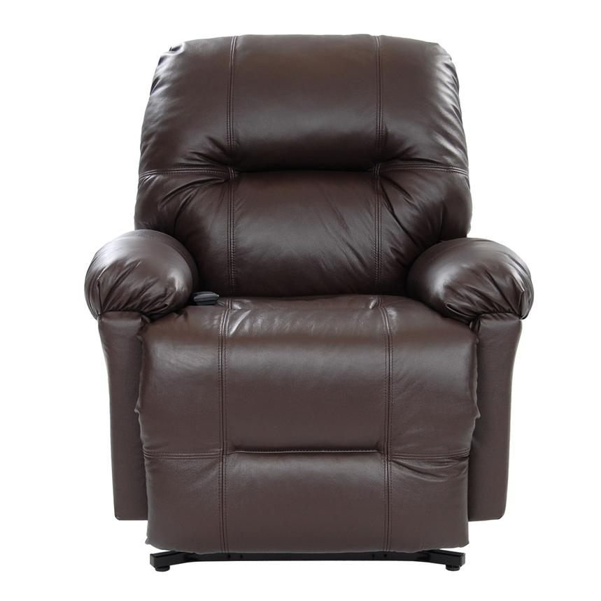 Wynette Brown Power-Lift Leather Recliner  alternate image, 3 of 10 images.