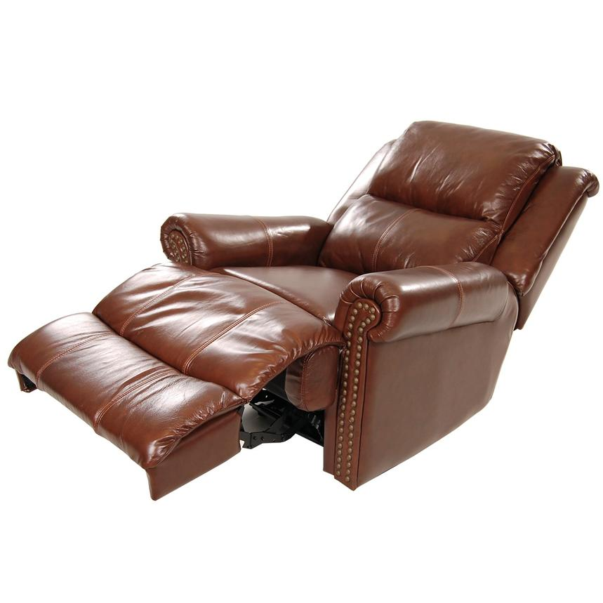 Mount Brown Leather Power Recliner  alternate image, 2 of 8 images.