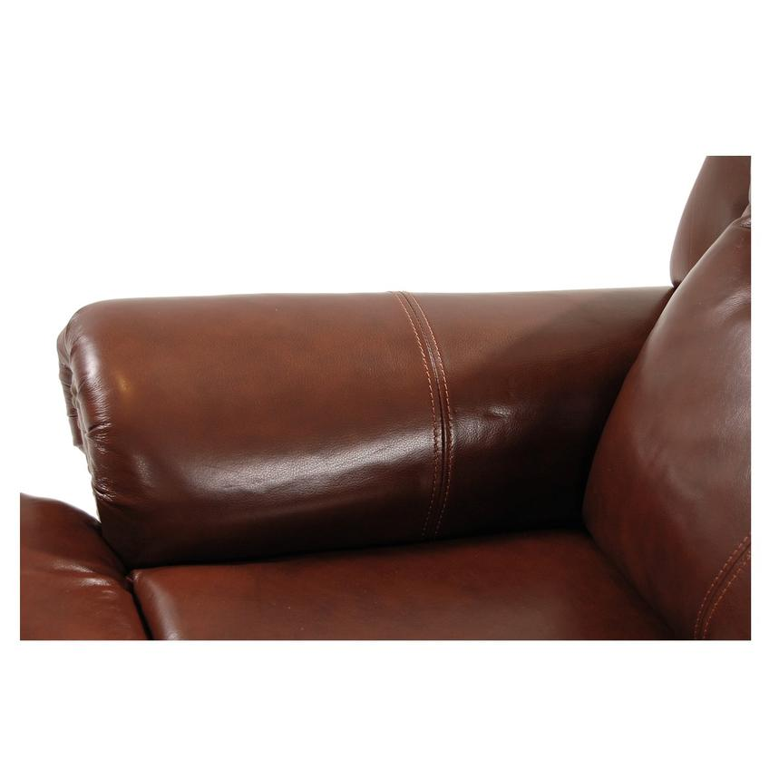 Mount Brown Leather Power Recliner  alternate image, 7 of 8 images.