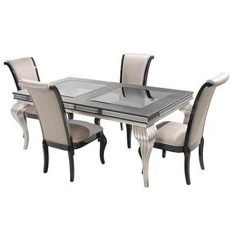Hollywood Swank Black 5-Piece Formal Dining Set