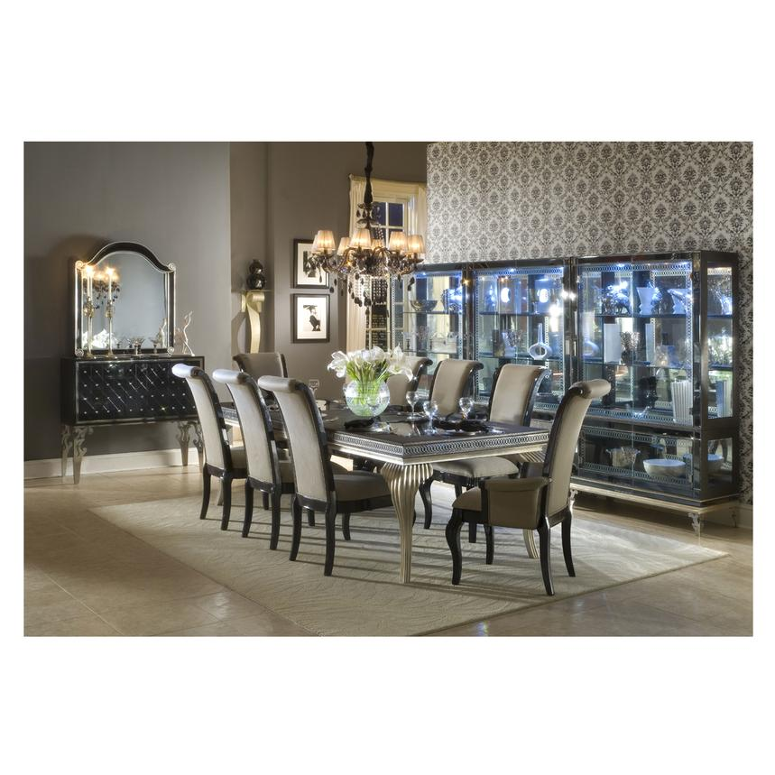 Hollywood Swank Black Extendable Dining Table  alternate image, 3 of 9 images.