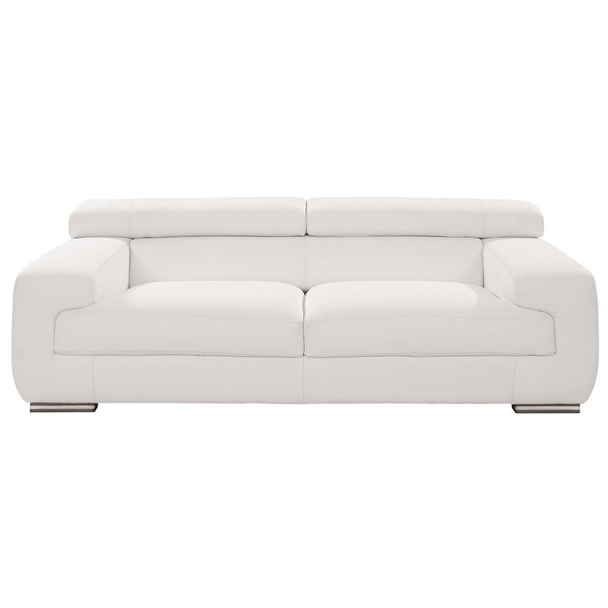 Grace White Leather Sofa