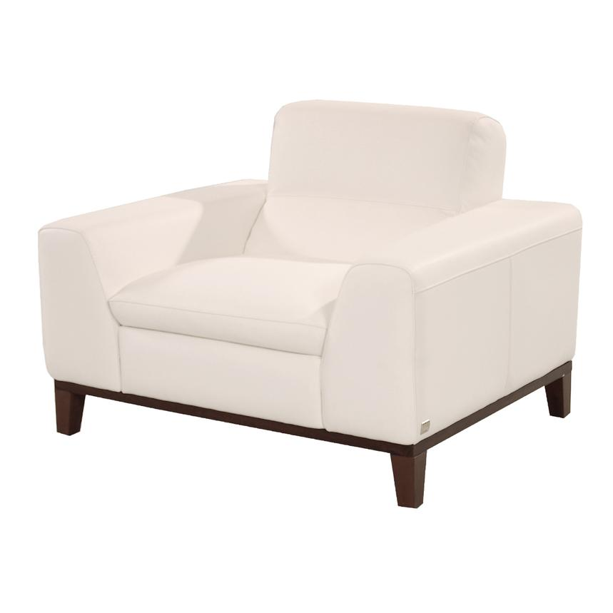 Milani White Leather Chair  main image, 1 of 8 images.
