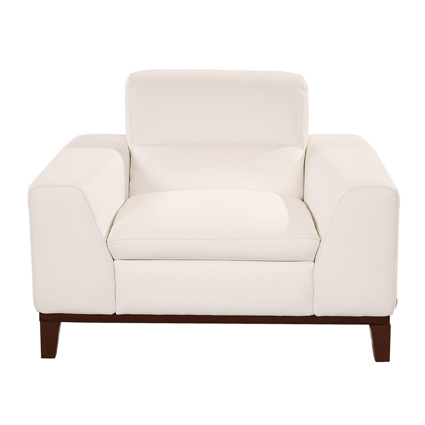 Milani White Leather Chair  alternate image, 3 of 8 images.
