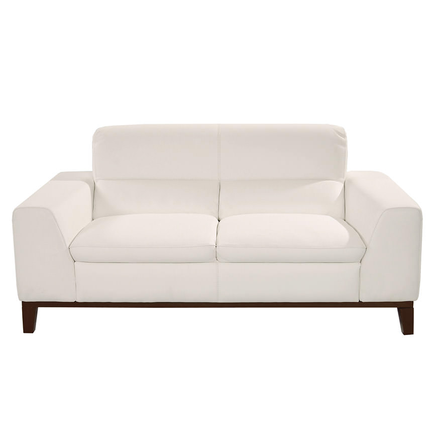 Milani White Leather Loveseat El Dorado Furniture