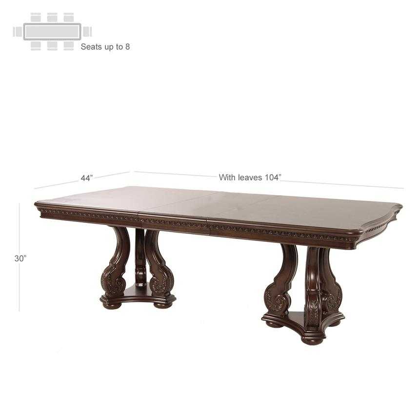 San Marino Extendable Dining Table  alternate image, 3 of 5 images.