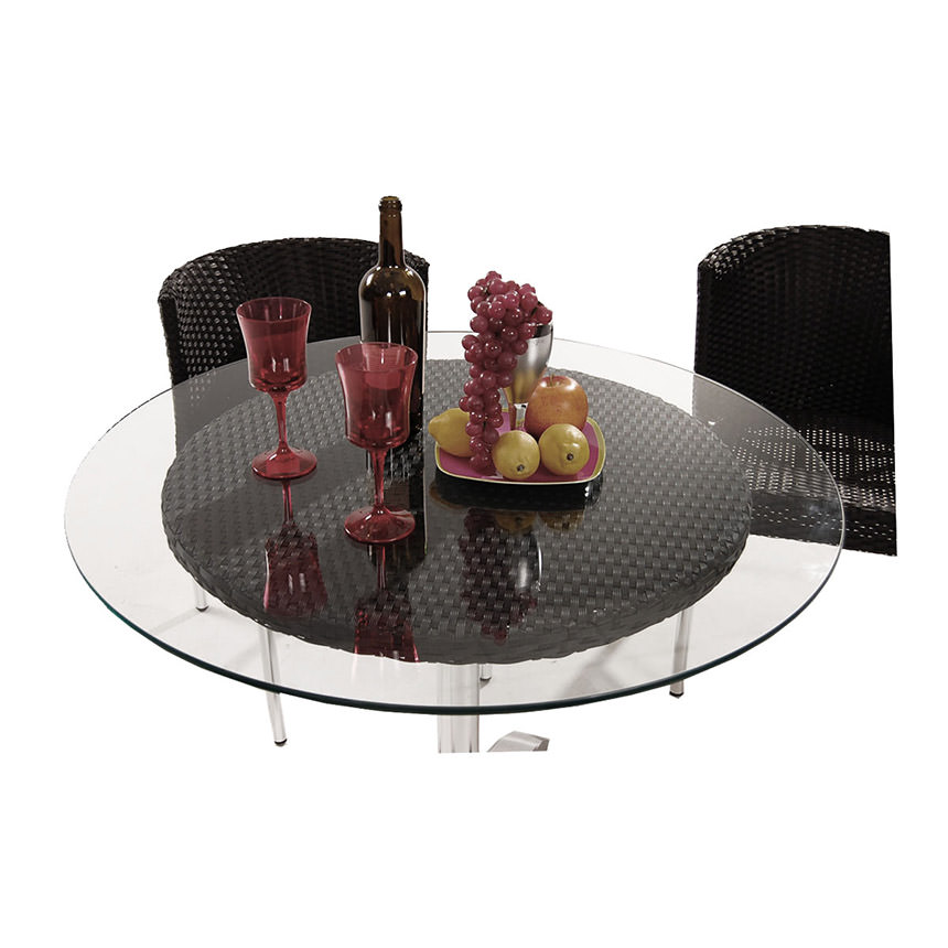 Gerald Black 3-Piece Patio Set w/10mm Glass Top  alternate image, 2 of 10 images.