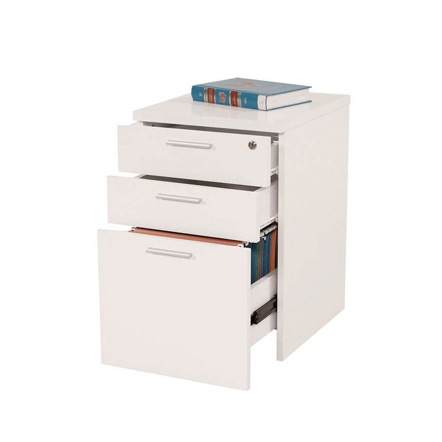 Bellmar White Lateral File Cabinet  alternate image, 2 of 4 images.