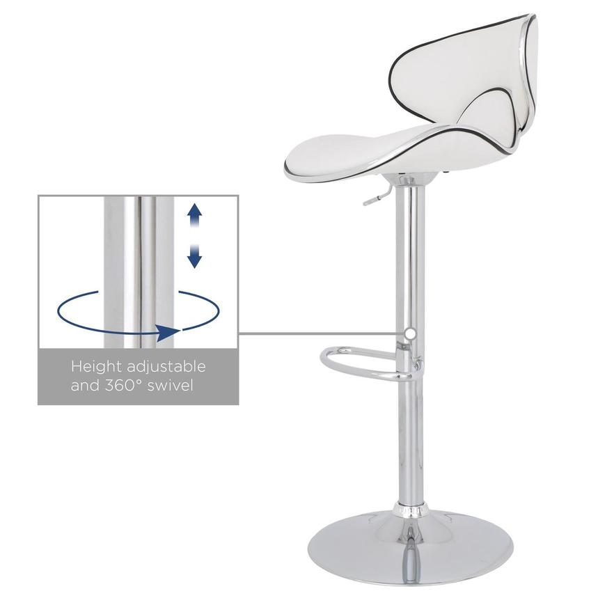 Clipper White Adjustable Stool  alternate image, 8 of 8 images.