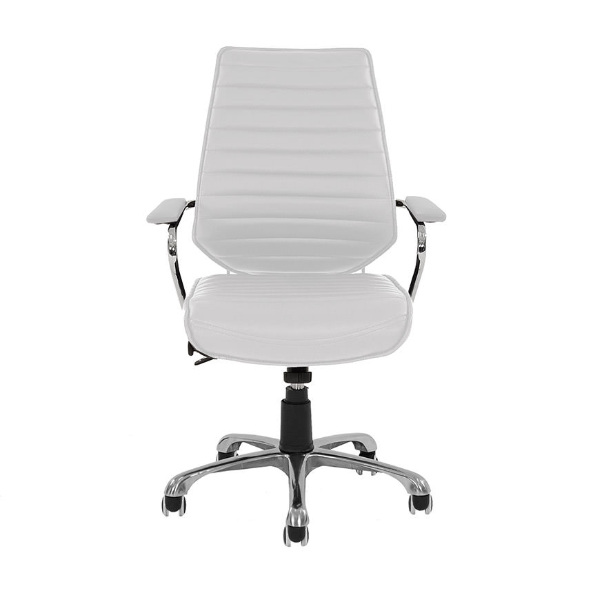 Enterprise White Desk Chair  alternate image, 2 of 4 images.