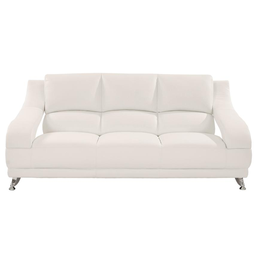 Jedda White Leather Sofa  alternate image, 2 of 5 images.