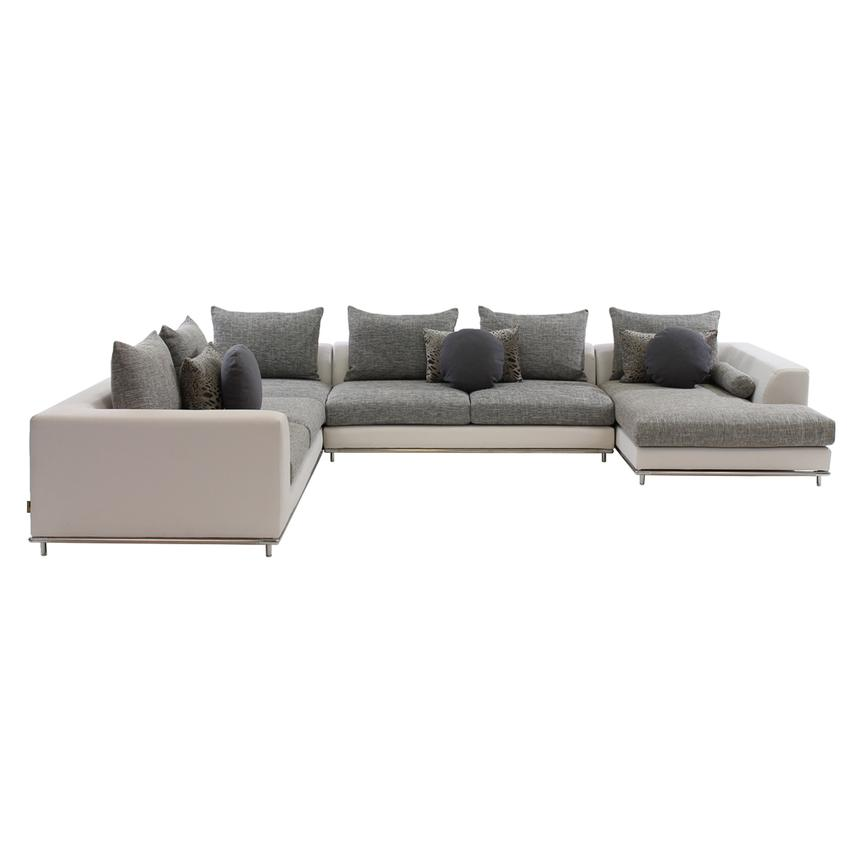 Hanna Sectional Sofa w/Right Chaise  alternate image, 2 of 5 images.