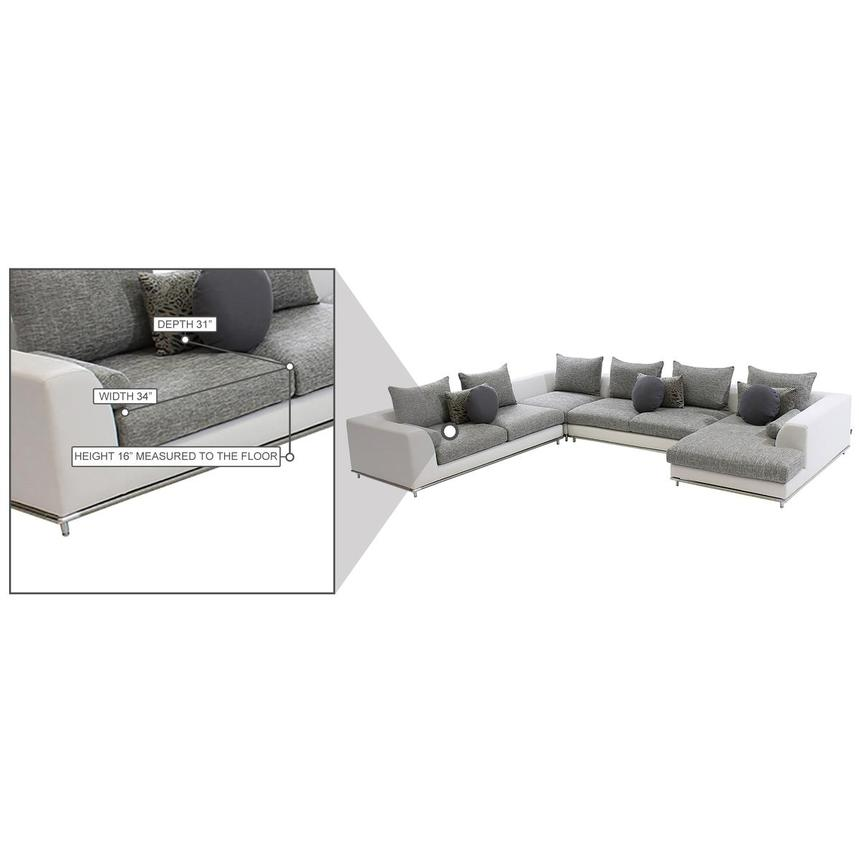 Hanna Sectional Sofa w/Right Chaise  alternate image, 9 of 9 images.