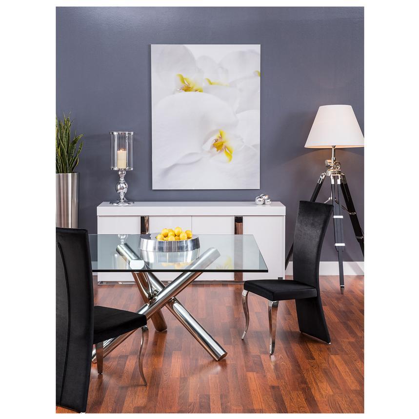 Grand Night White Gloss Buffet   El Dorado Furniture