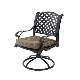 Castle Rock Brown Swivel Chair