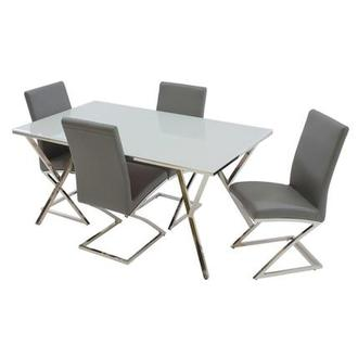 Jade Gray 5-Piece Dining Set