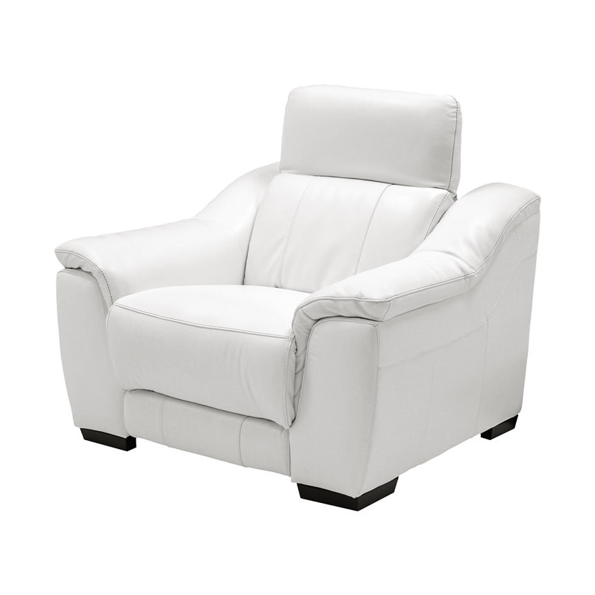 Davis White Power Motion Leather Recliner  alternate image, 2 of 10 images.