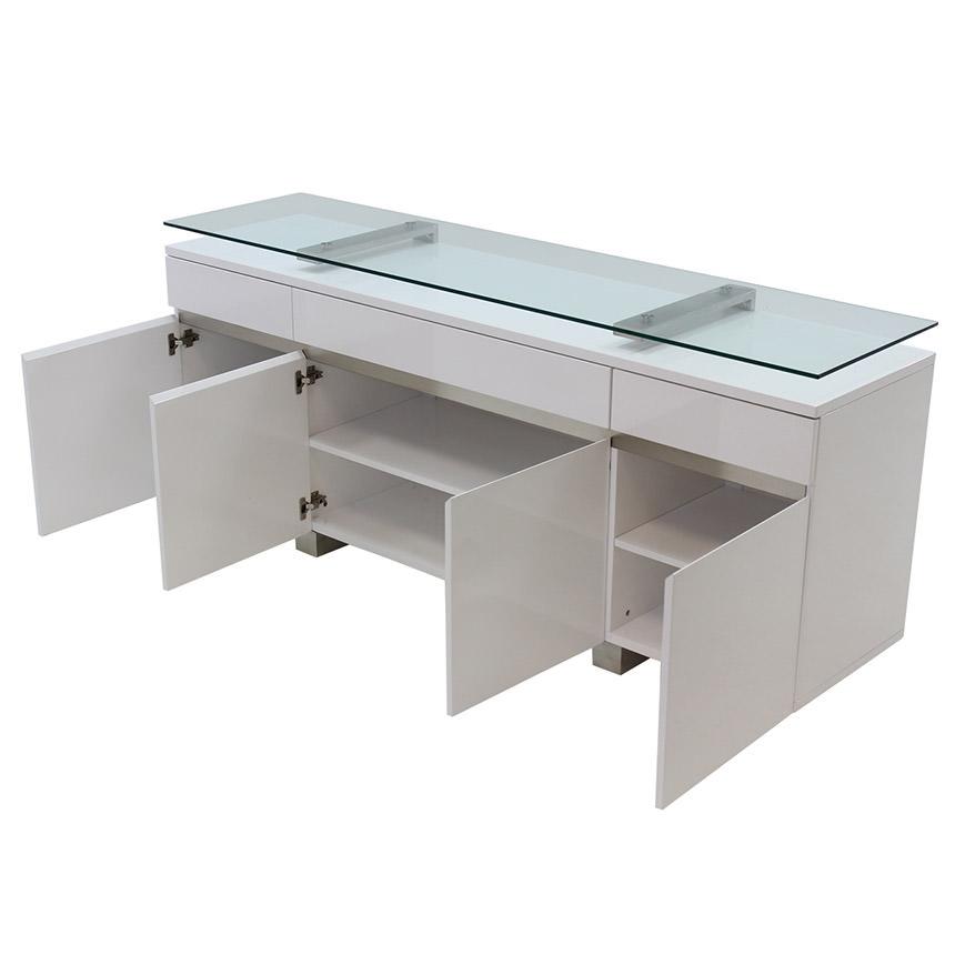 Novo white buffet el dorado furniture for Sideboard xenia