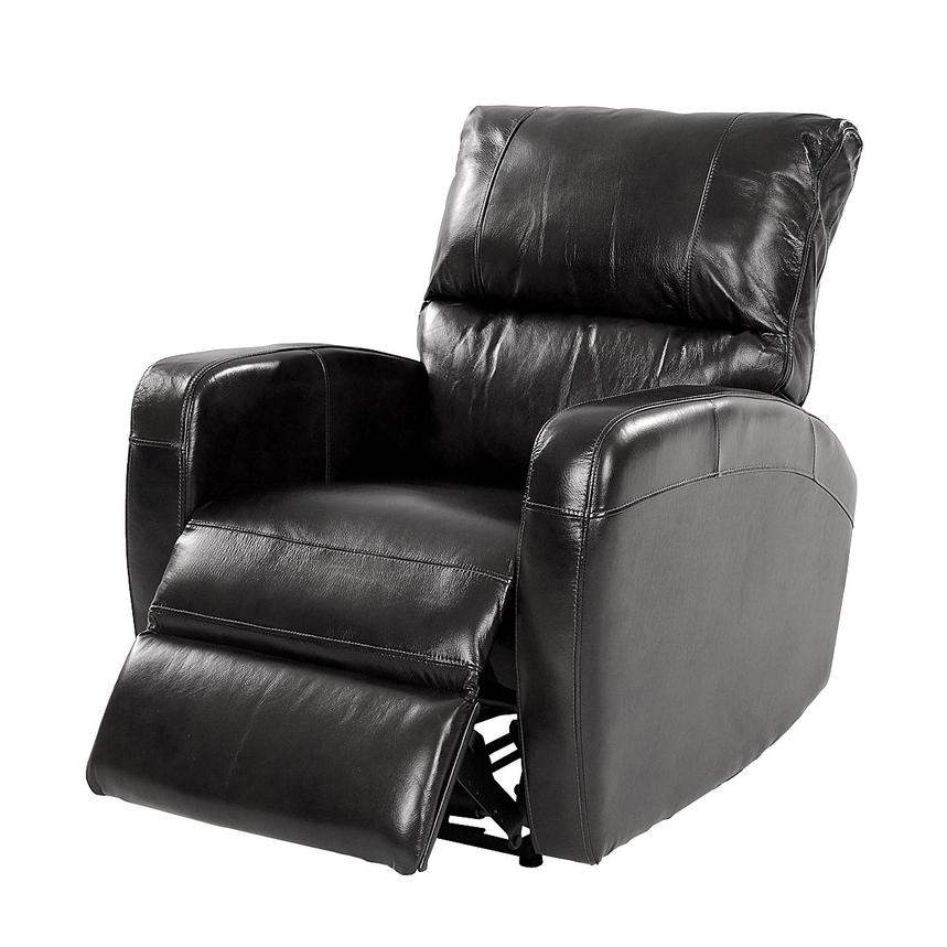 Keegan Black Power Motion Leather Recliner  alternate image, 3 of 8 images.